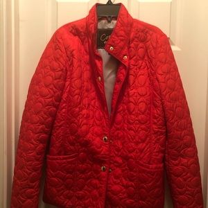 """Coach signature """"C"""" quilted jacket."""